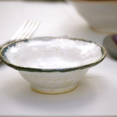 Ref. 015, ø 11 cm, esmalte Blanco IEL con borde negro