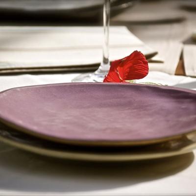 Ref. 025, ø 27 cm, esmalte violeta Borgoña
