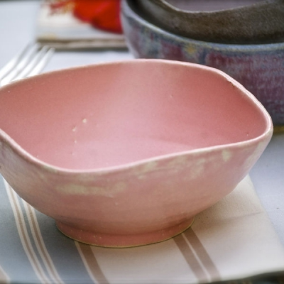 Ref. 010 - ø 14 cm, altura 7,5 cm, rosa Marshmallow